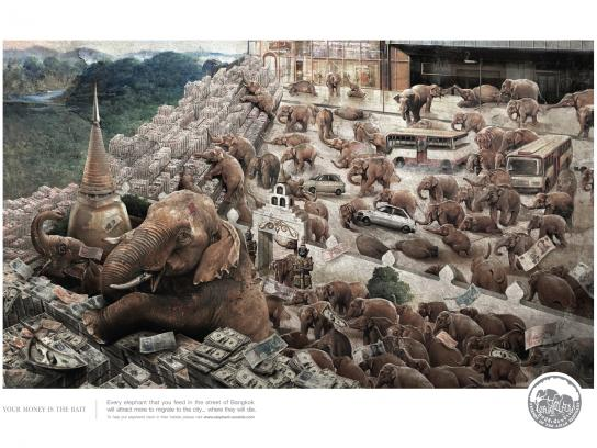 Friends of the Asian Elephant Print Ad -  Trap