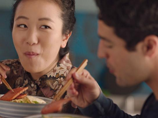 SPAM Film Ad - Sizzle. Pork. And. MMM.