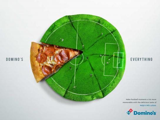 Domino's Pizza Print Ad - Football