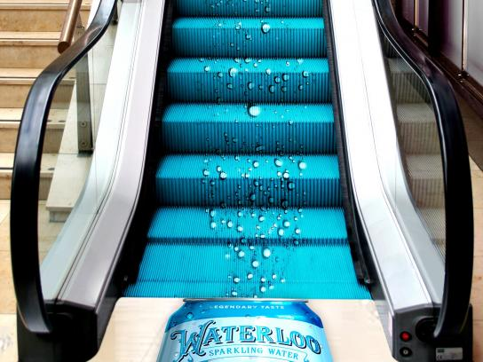 Waterloo Sparkling Water Experiential Ad - Waterloo Bubble Escalator