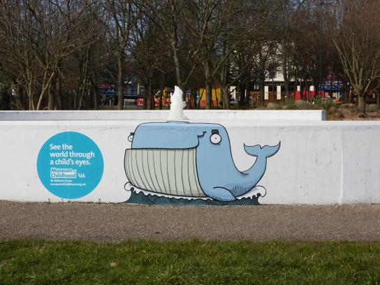 V&A Museum of Childhood Outdoor Ad -  Whale
