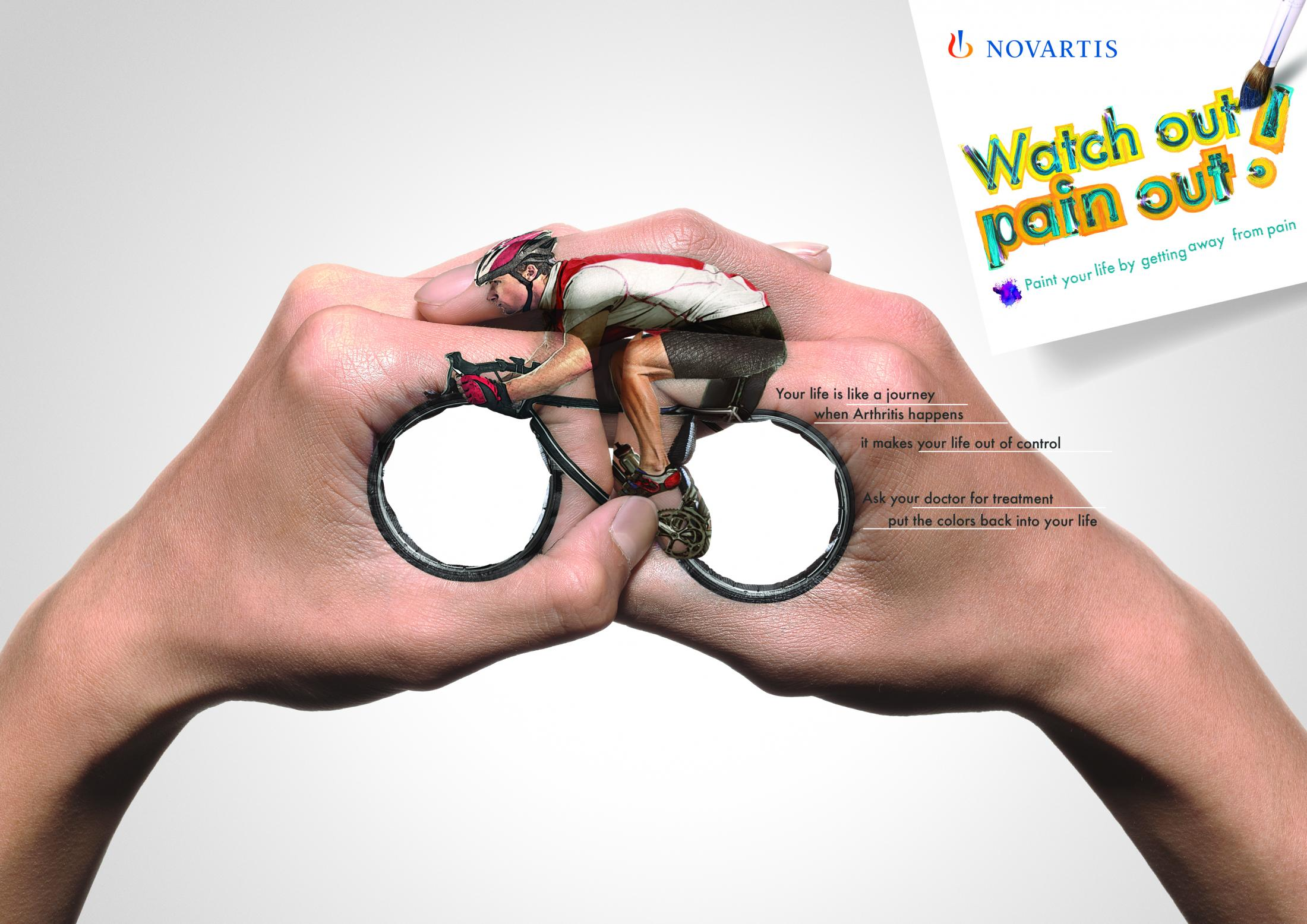Novartis: Watch out, pain out - Bicycle