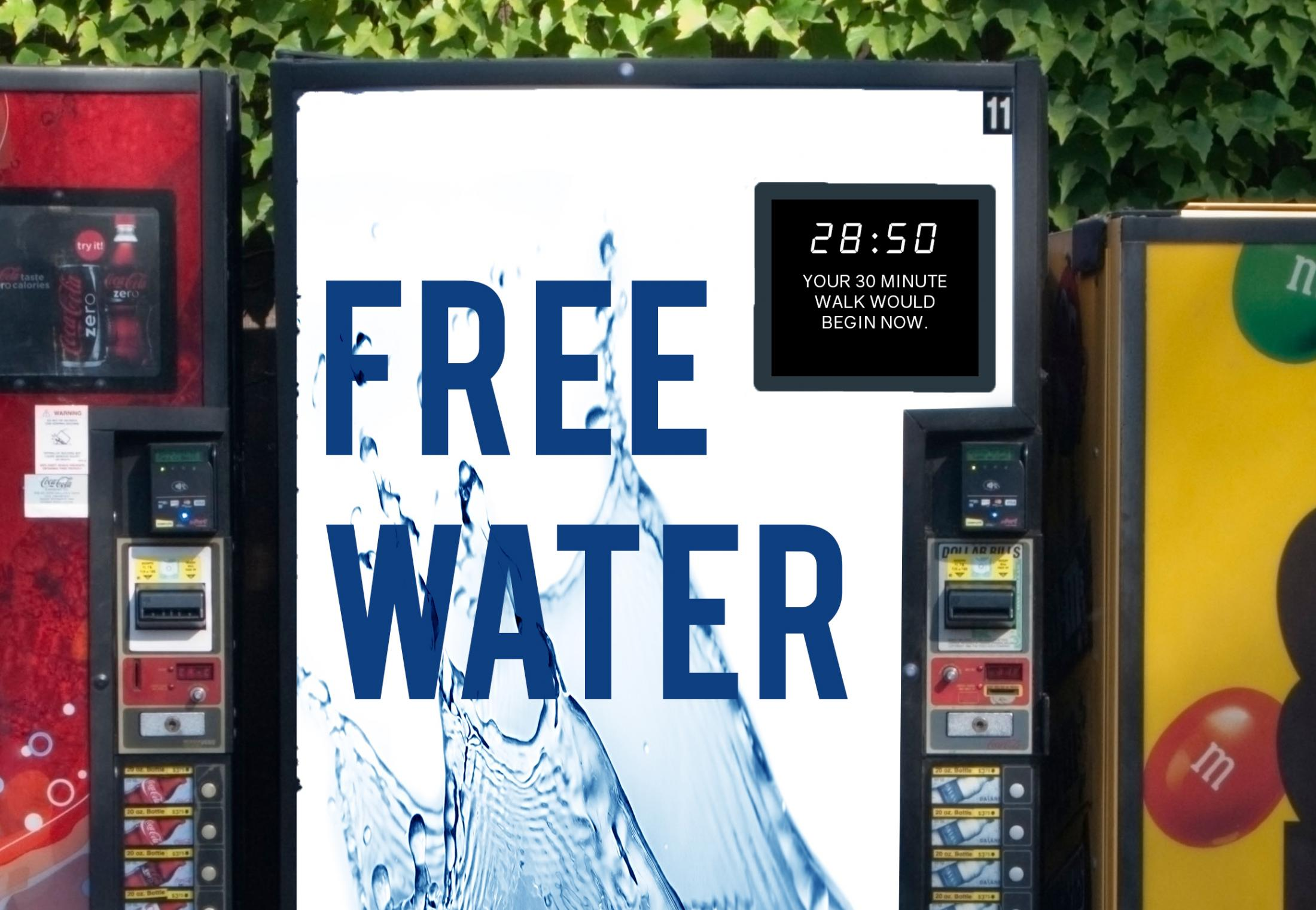WaterAid: 30 Minutes a Day - Vending Machines