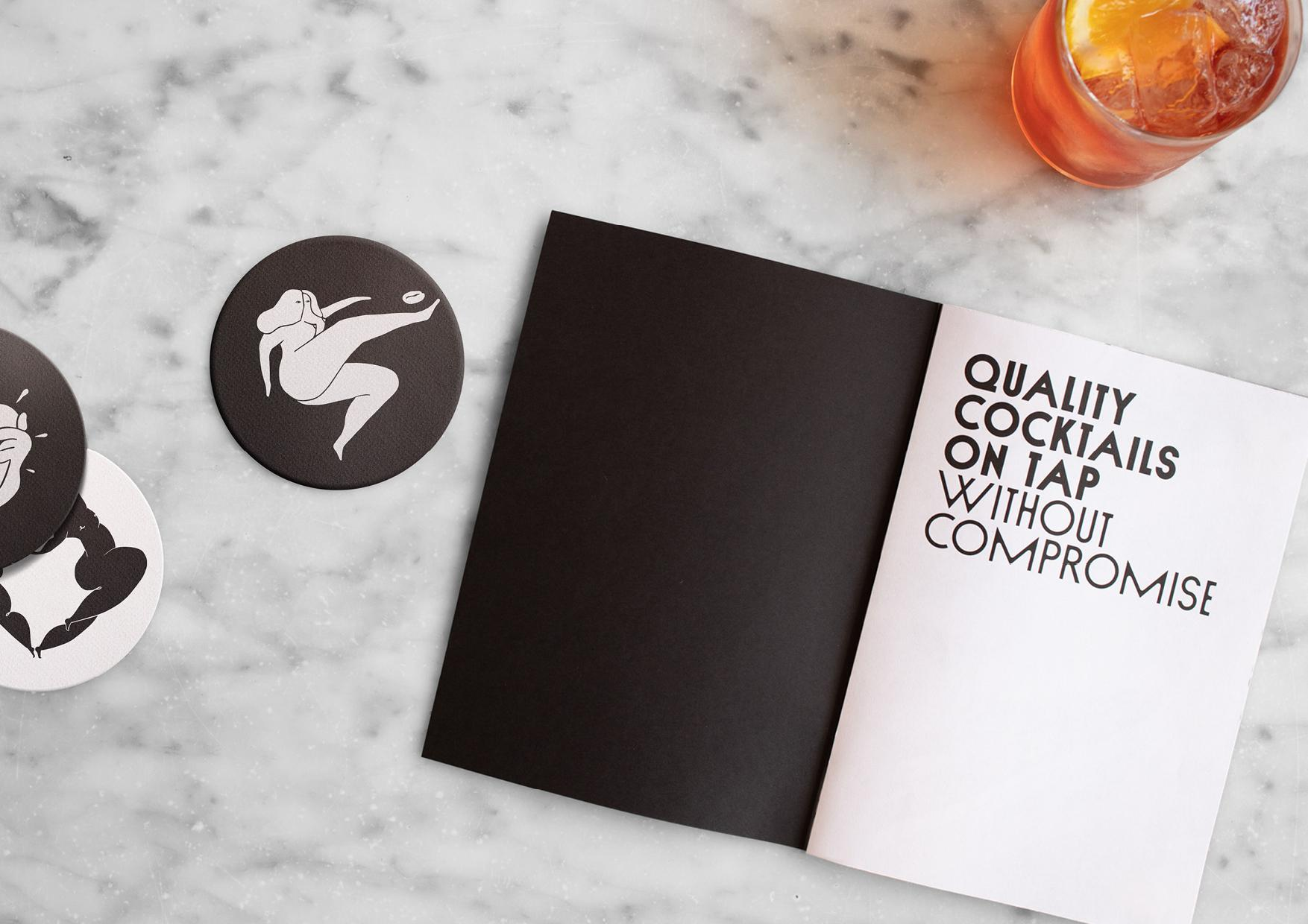 Black Lines: Black Lines Shakes Up the Cocktail Industry With New Brand Identity By & SMITH