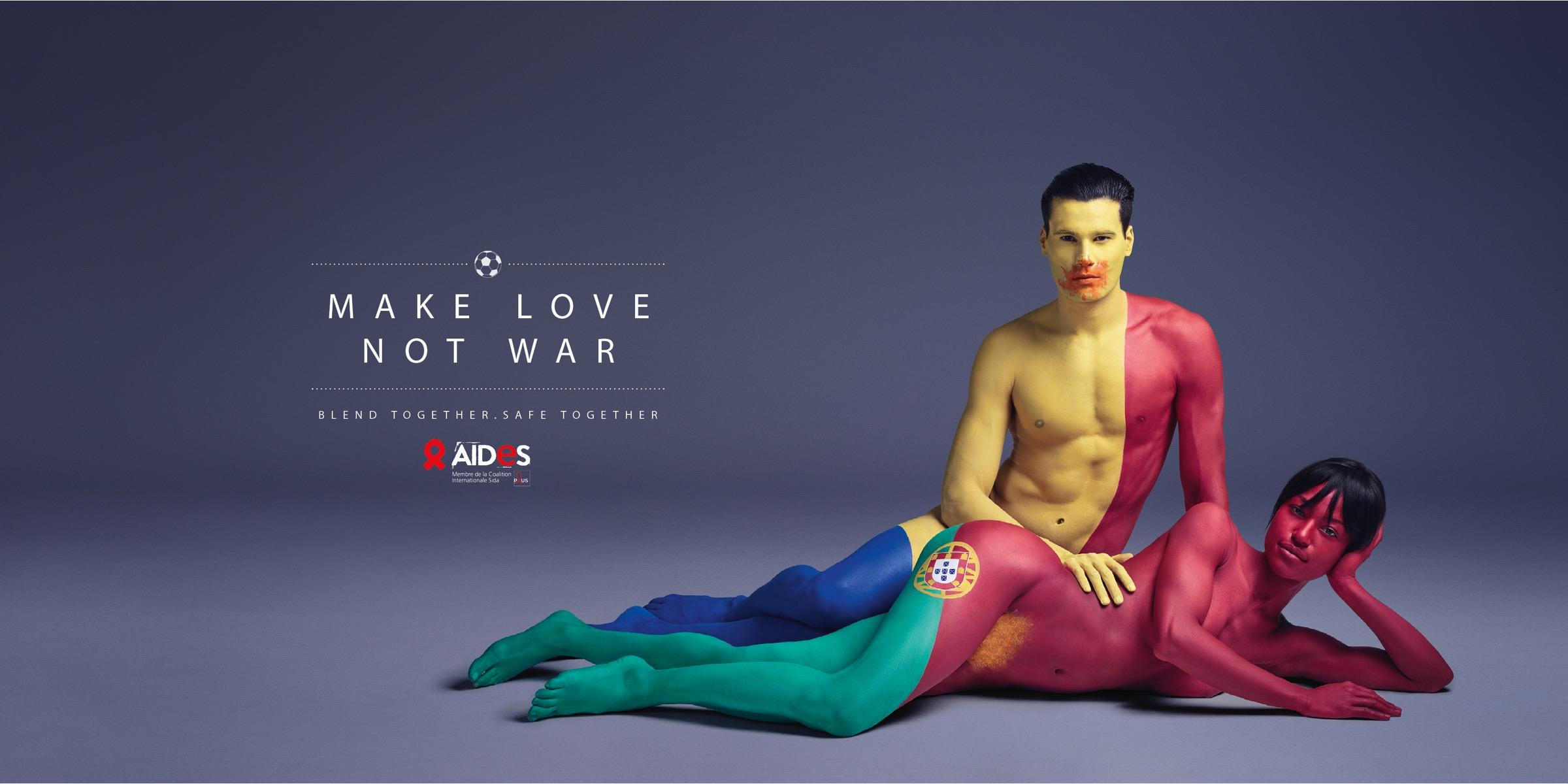 Aides Print Ad - Make love, 4