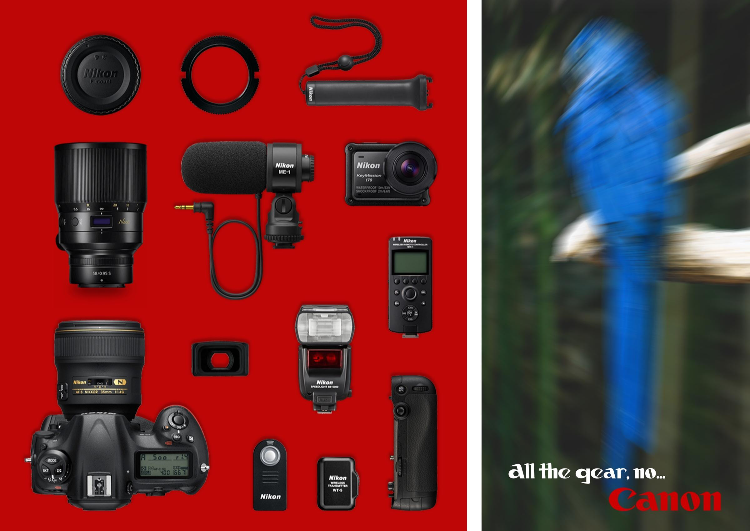 Canon Print Ad - All the gear, no Canon