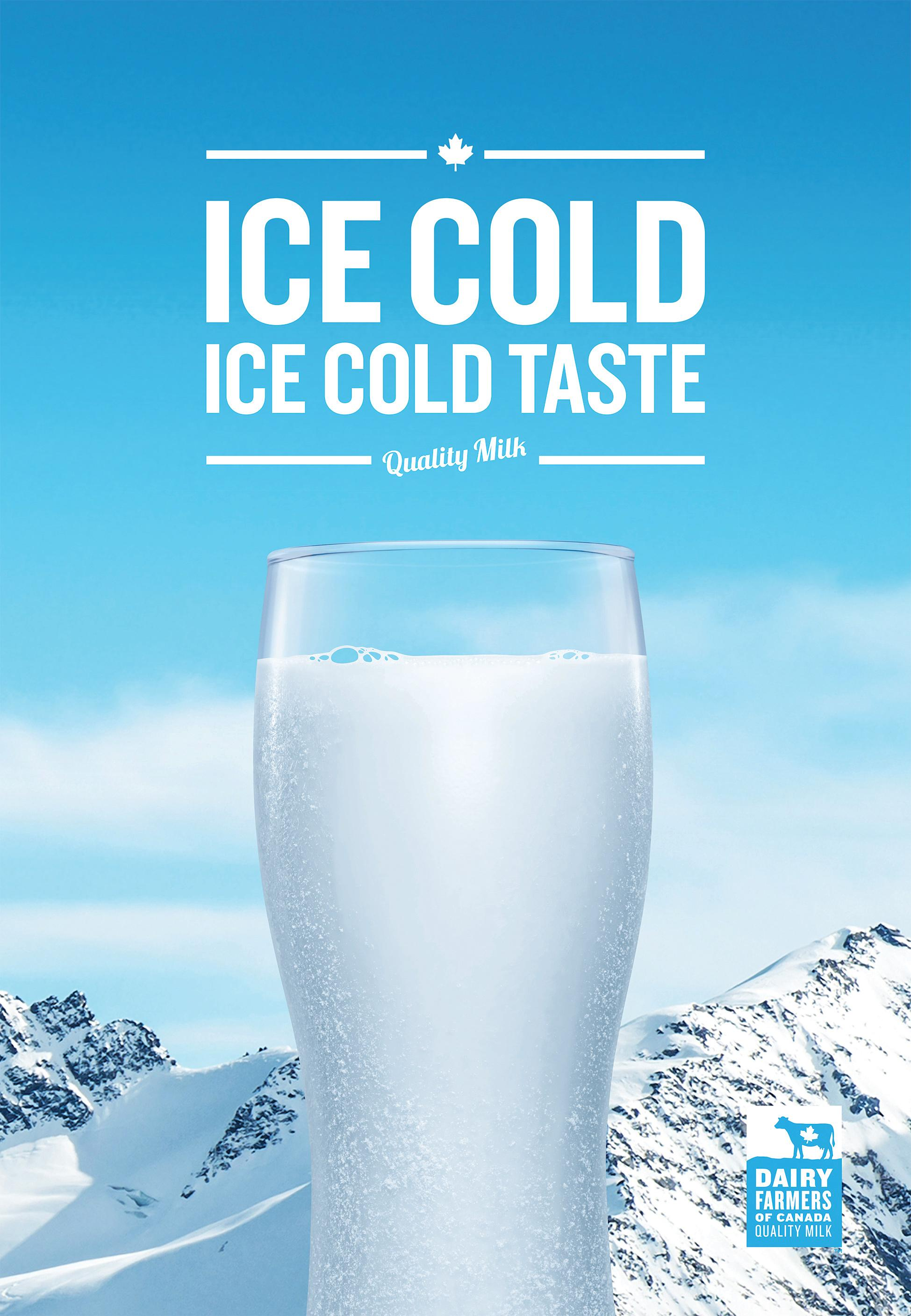 dairy farmers of canada print advert by ddb ice cold ads of the