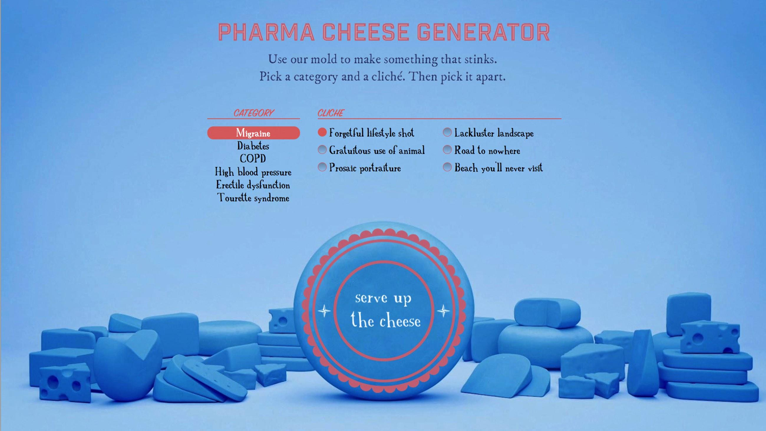 NEON: Pharma Cheese Generator