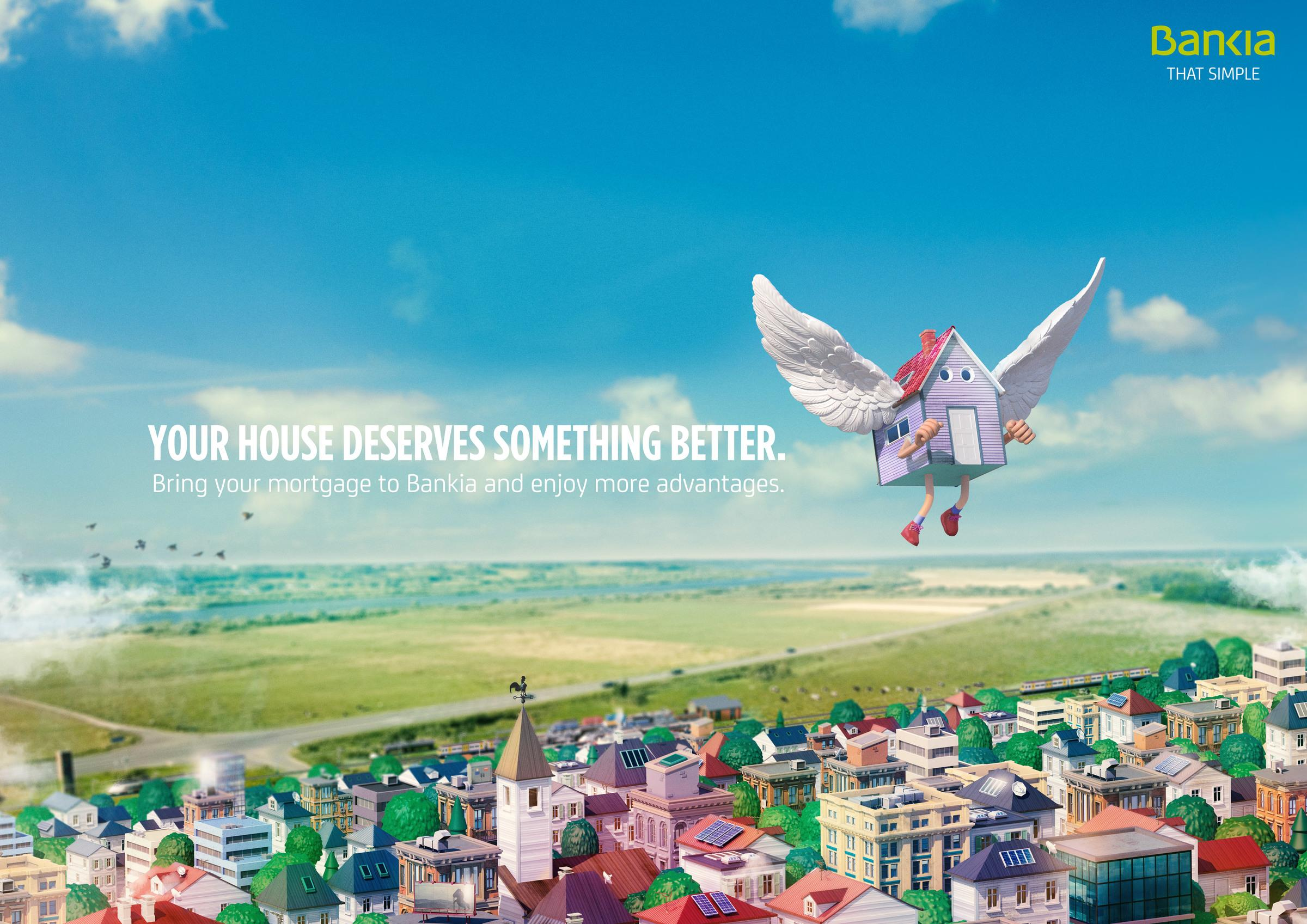 Bankia: Flying houses
