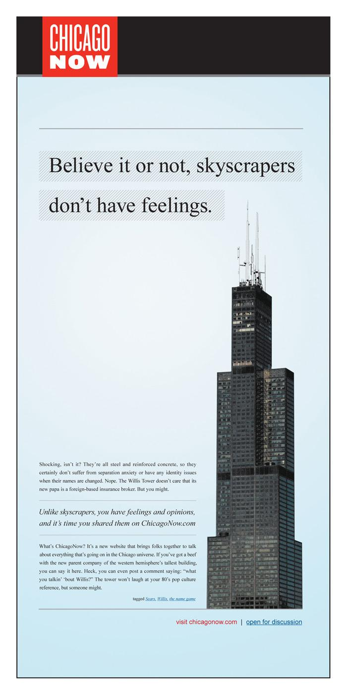 Chicago Now:  Willis tower