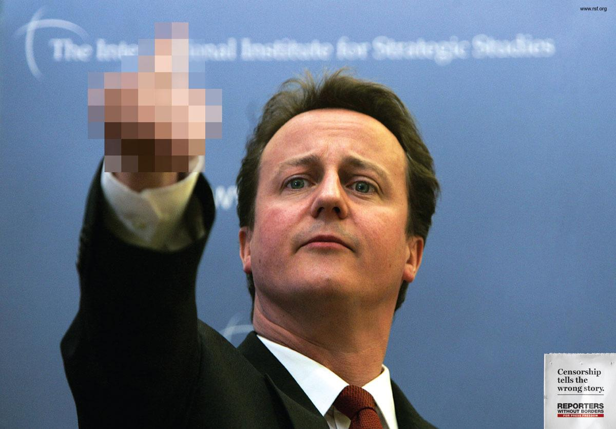 Reporters Without Borders:  Censorship tells the wrong story, Cameron