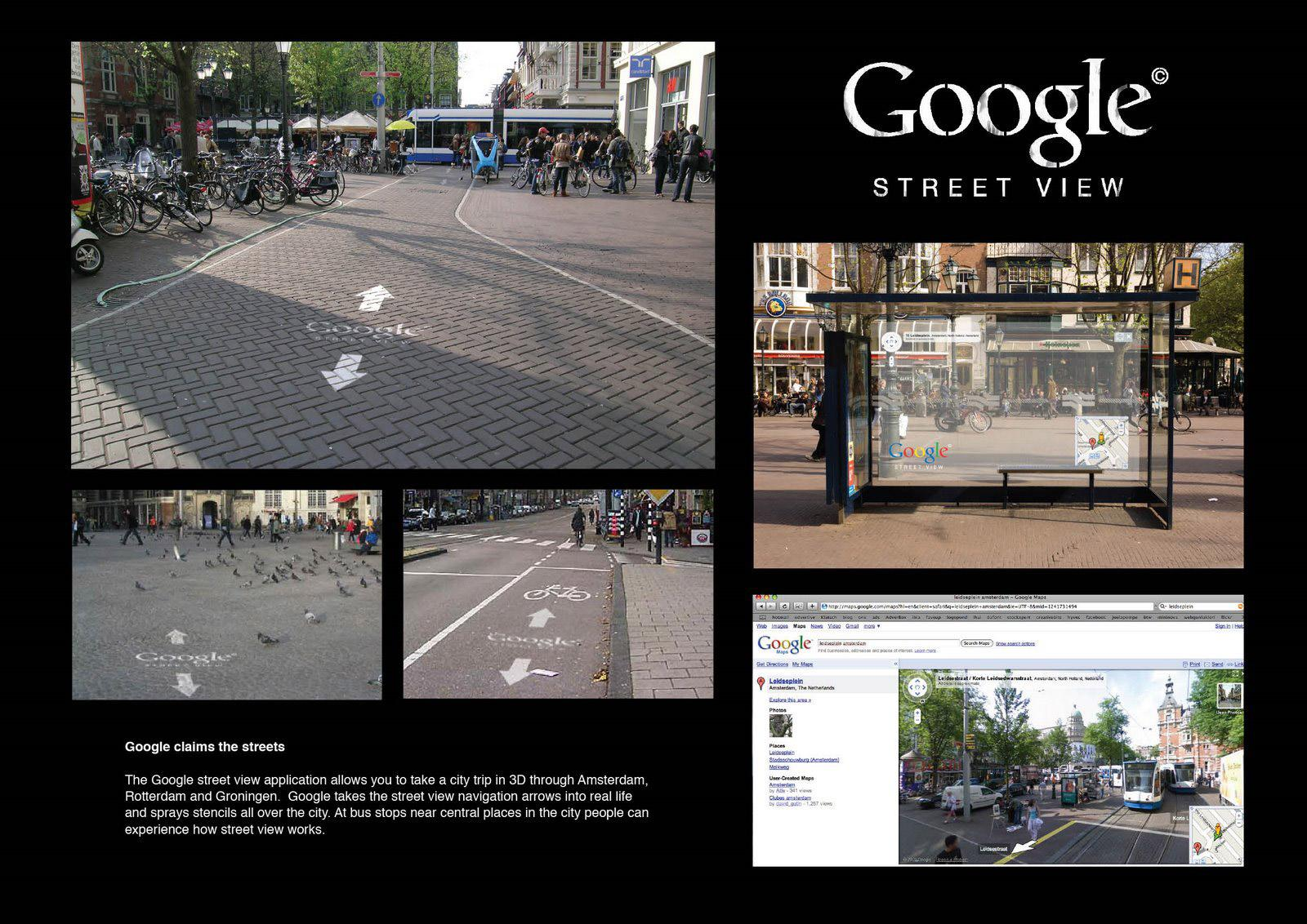 Google:  Google claims the streets