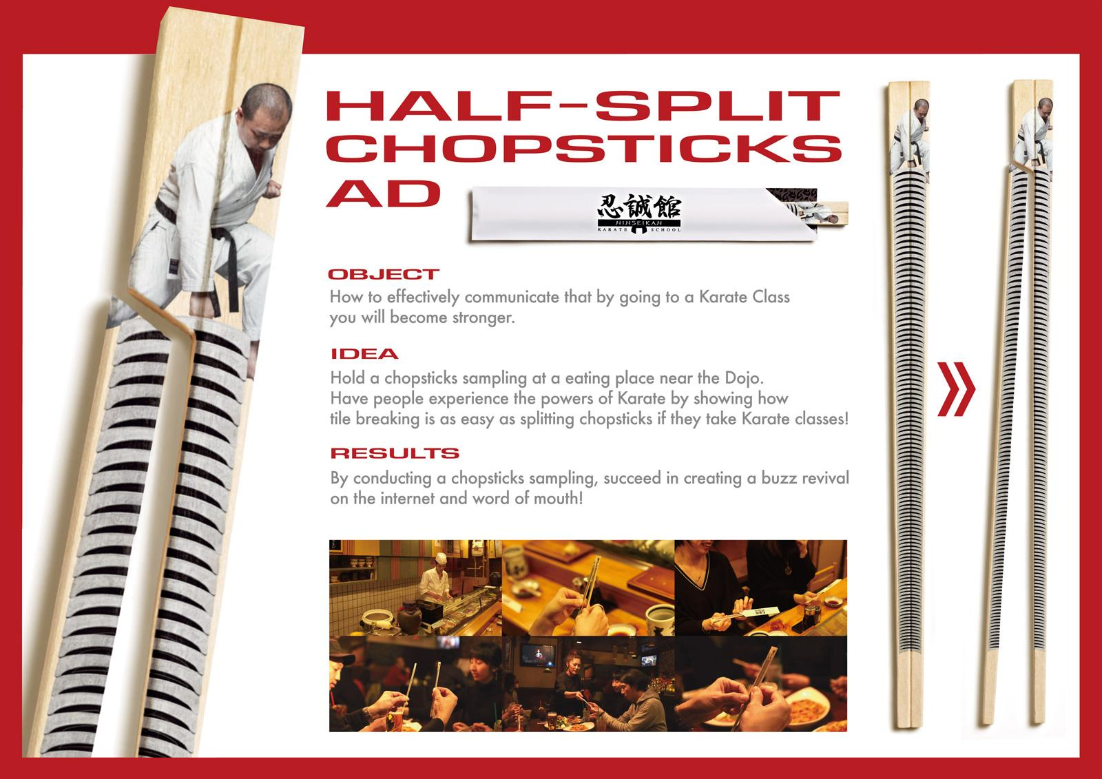 Ninseikan:  Half-split chopsticks
