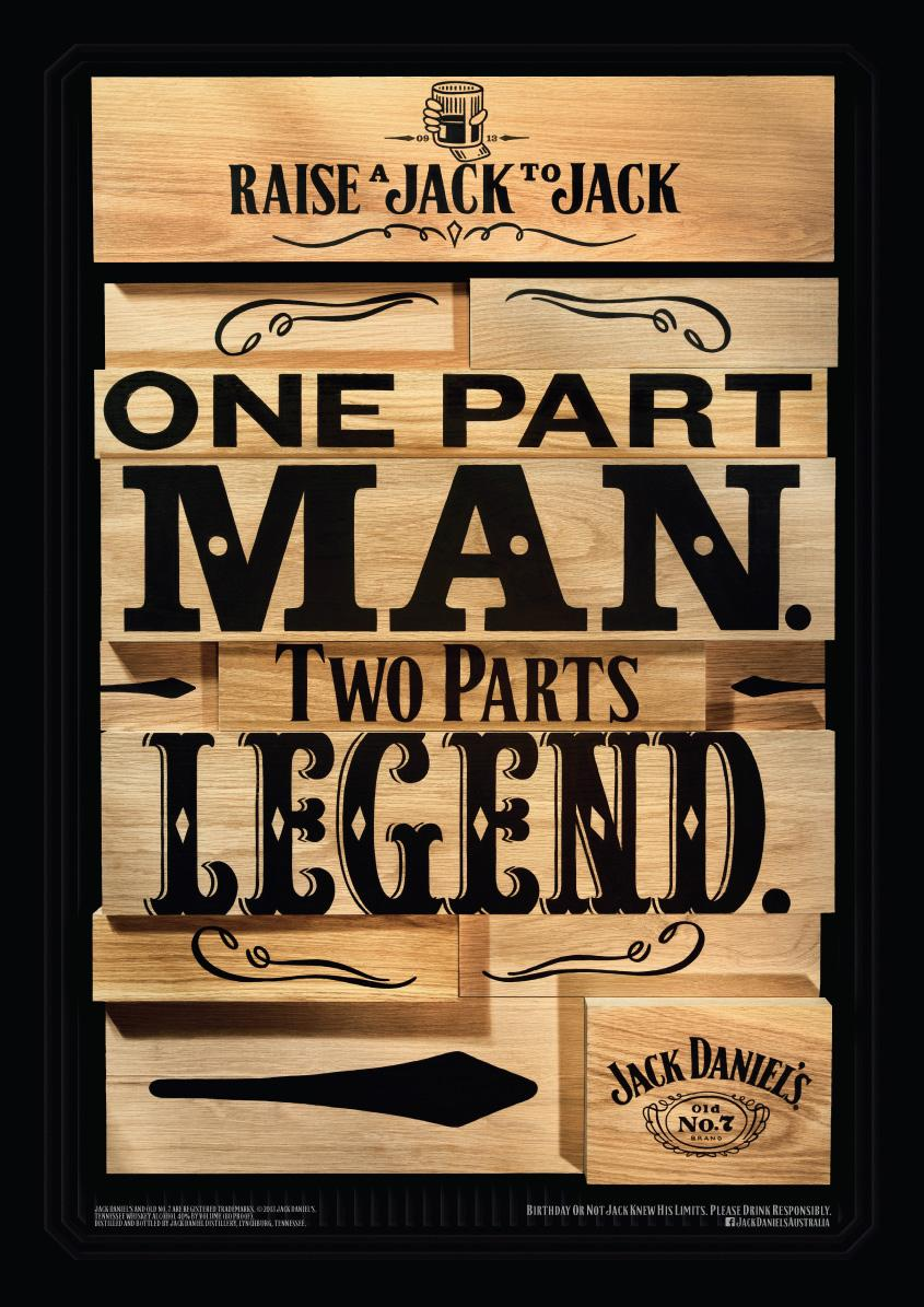 Jack Daniel's Outdoor Ad -  Legend