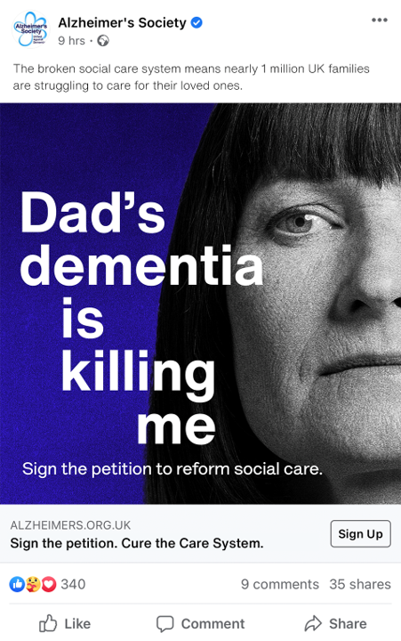 Alzheimer's Society: Cure the Care System