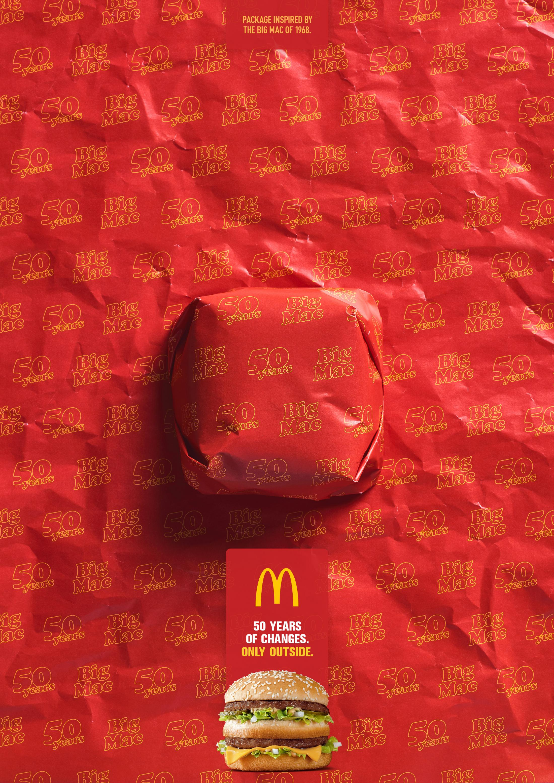 McDonald's Print Ad - Big Mac - Packed in History - 1968