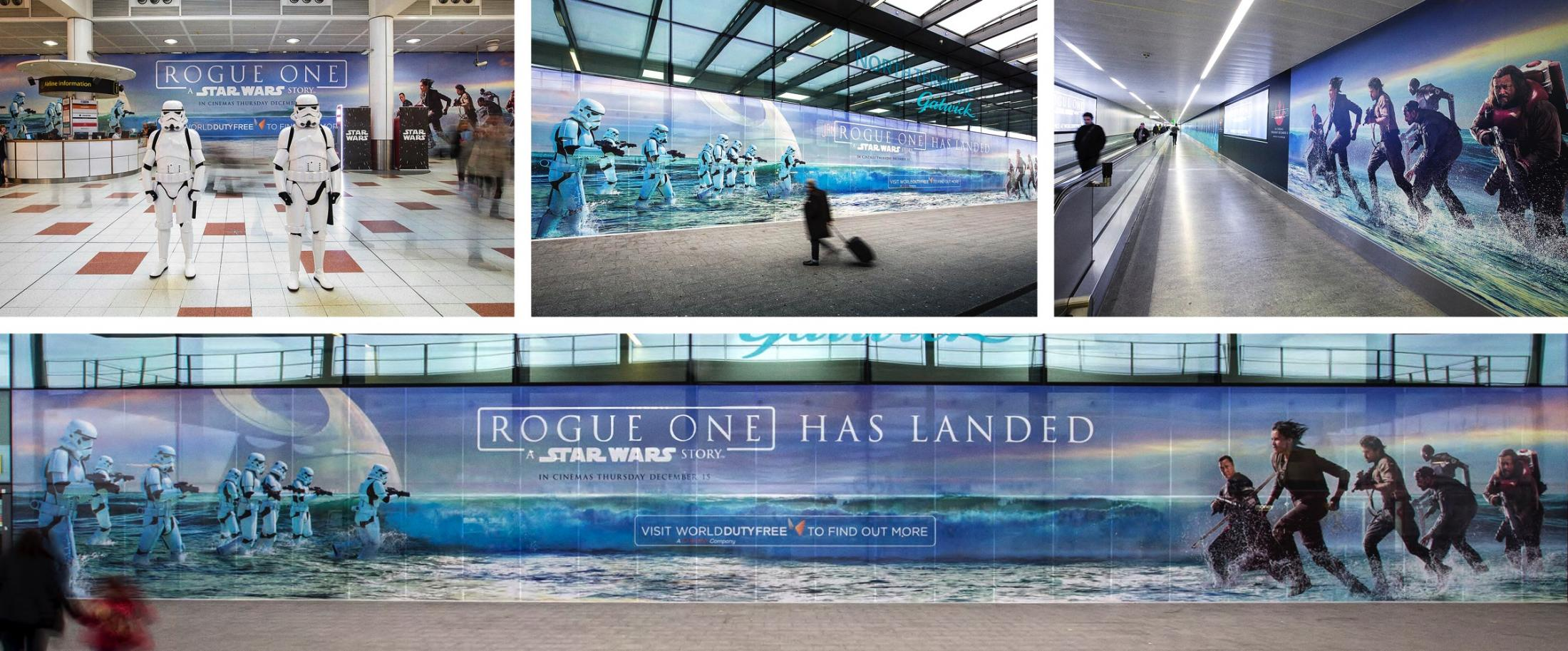 Walt Disney Studios: Rogue One: A Star Wars Story - Gatwick Airport Terminal Takeover