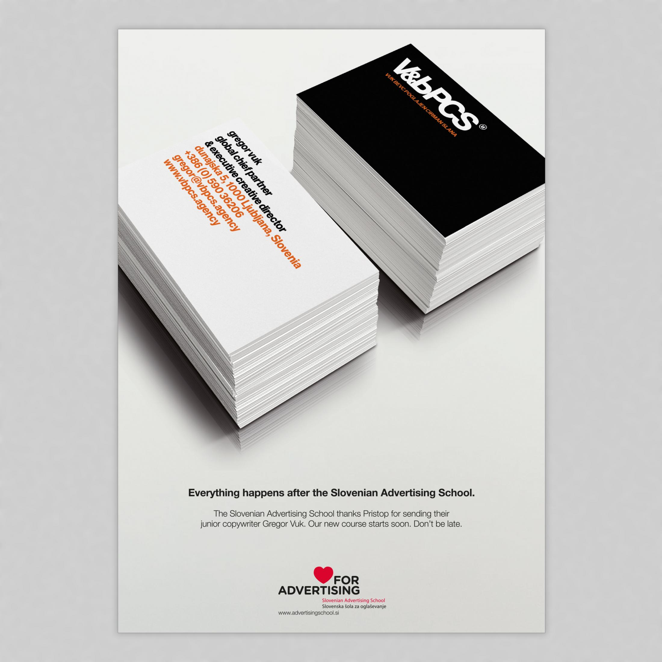 Slovenian Advertising School: Buzz cards for the future, 2