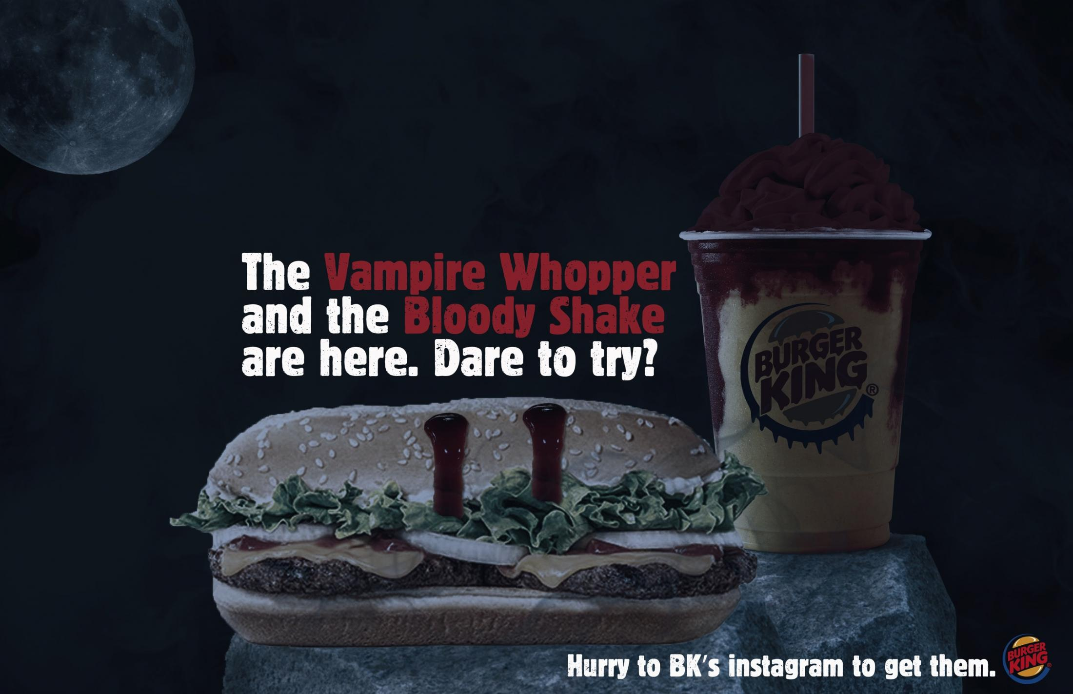 Burger King Print Ad - The Vampire Whopper